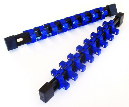 """2 GOLIATH INDUSTRIAL 3//8/"""" ABS DOUBLE SIDED SOCKET RAIL HOLDER ORGANIZER SR38DS"""