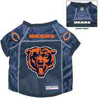 Chicago Bears Pet Dog Premium Nfl Alternate Jersey W/name Tag