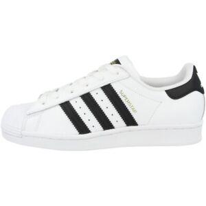 Detalles de Adidas Superstar Mujer Zapatos Retro Clásicos Zapatillas Blanco  y Negro FV3284