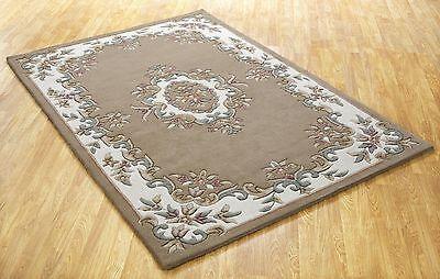 Tusaro Aubusson Blau Wolle Teppich in Verschiedenen Größen Halbmond und Kreis
