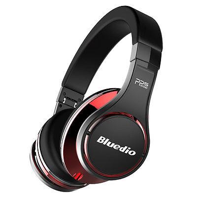 Bluedio U (UFO) Bluetooth 4.1 Kopfhörer Wireless Headset Over-Ear 3D,schwarz-rot