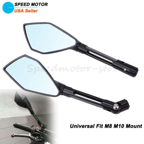 Universal Motorcycle CNC Rearview Side Mirrors For Honda Suzuki Yamaha Kawasaki