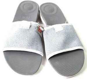 FitFlop Womens 07 Urban White Silver