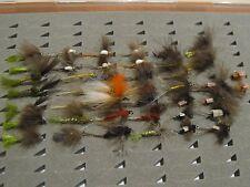 Lote de 43 moscas surtidas. Con muerte. Pesca a mosca. FLY FISHING (55)