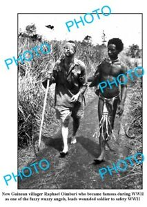 OLD-LARGE-PHOTO-FUZZY-WUZZY-ANGEL-GUIDING-AUSTRALIAN-SOLDIER-PNG-WWII