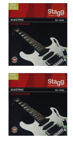 2x Satz Saiten E-Gitarre elektrische Gitarre 010-046 Seiten Stahl Nickel  EL1046