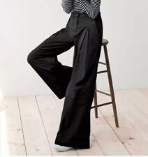 JCrew 1970's Style Ultra Wide Leg Chino Pant in Black NWT $118 12 f8307 SOLDOUT!
