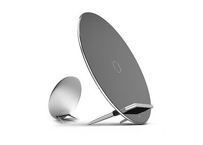 SILVER Moon Wireless Charging Dock Stand for QI enabled Phones Samsung S6