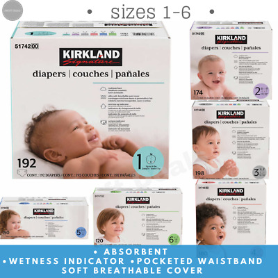 Kirkland Signature Supreme 4 6 Value Pack 5 Baby Diapers Size: 1-2 3