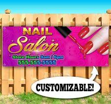Nail Salon Custom Advertising Vinyl Banner Flag Sign Many Sizes Barber Hair Pink