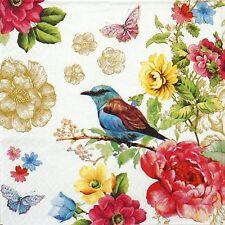 4x Paper Napkins -Bird Paradise- for Party, Decoupage