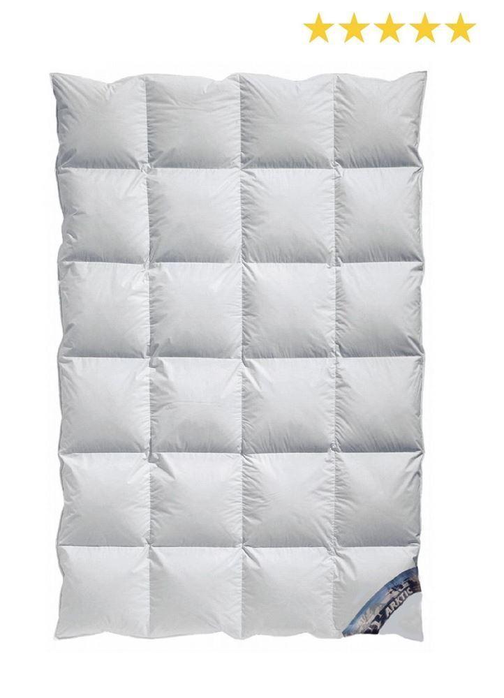 Arktic Kassetten Daunendecke extra-warme Winterdecke 100% Daune 135x200 cm A5