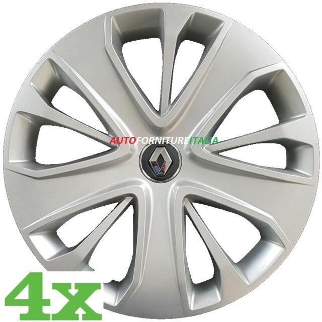Set 4 Copricerchi CLIO 2012> diametro 15 grigio coppa ruota borchia coppone
