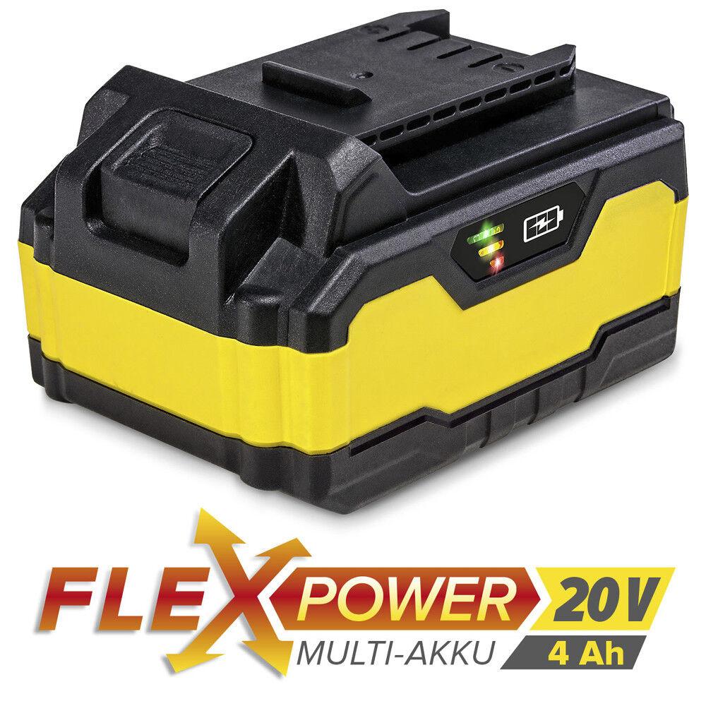 TROTEC Flexpower-Multiakku 20 V, 4,0 Ah   Akku Batterie Ersatzakku   Werkzeug