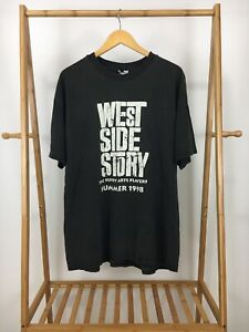 VTG-Hanes-90s-Men-039-s-West-Side-Story-Summer-1998-Black-T-Shirt-Size-XXL-RARE