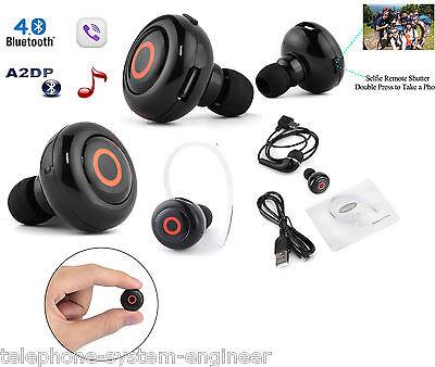 UK Mini Bluetooth 4.1 Earphone Wireless earbuds Earpiece Headset handsfree black