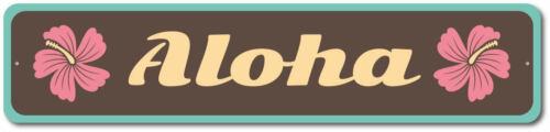 Aloha Decor Hawaiian Gift Aluminum Sign ENSA1003255 Aloha Sign