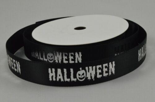Black satin halloween ribbon 15mm x 1 Metre FREE UK POST 1 Metre FREE!