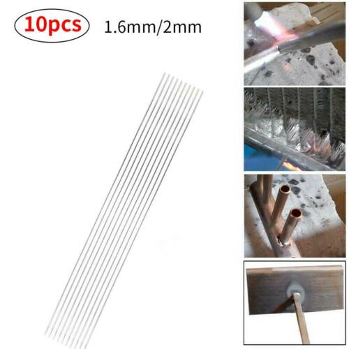 50pcs Aluminum Solution Welding Flux-Cored Rods Wire Brazing Rod 1.6MM x 50CM US