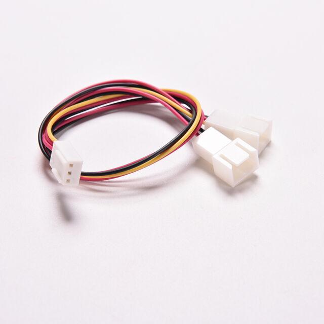 3 Pin PC Case Fan Power Splitter Cable Lead 1 Female to 2 Male Motherboard PBHCA