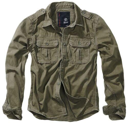 Brandit Vintage Shirt longsleeve S-7XL Oversize Freizeithemd US Worker