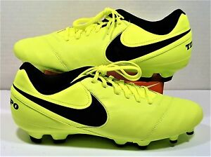9692341c453a Nike Tiempo Genio II Leather FG Soccer Cleat Volt   Black Sz 11.5 ...