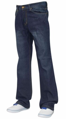 Men Denim Jeans Slim Bootcut Regular Fit Trousers Pants All Waist Sizes 30-40