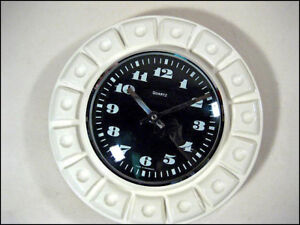 VTG-Wand-Uhr-Geometric-Pattern-Space-Age-Wall-Clock-60er-70er-Jahre-60s-70s-MCM