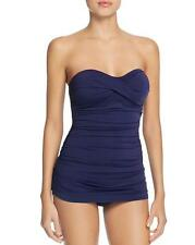 NWT NEW Tommy Bahama Blue Pearl Twist Bandeau One Piece Swimsuit 4 $130 mr09