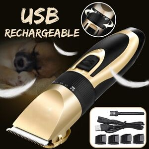 Electric-Dog-Clipper-Comb-Set-Animal-Hair-Blade-Cat-Pet-Grooming-Horse-CORDLESS