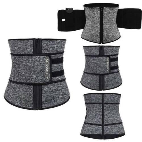 UK Waist Trainer Cincher Body Shaper Trimmer Sweat Belt Women Men Shapewear Gym