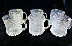 Iittala Finland Glass 6 Ultima Thule Beer Mugs Designed By Tapio Wirkkala Ebay