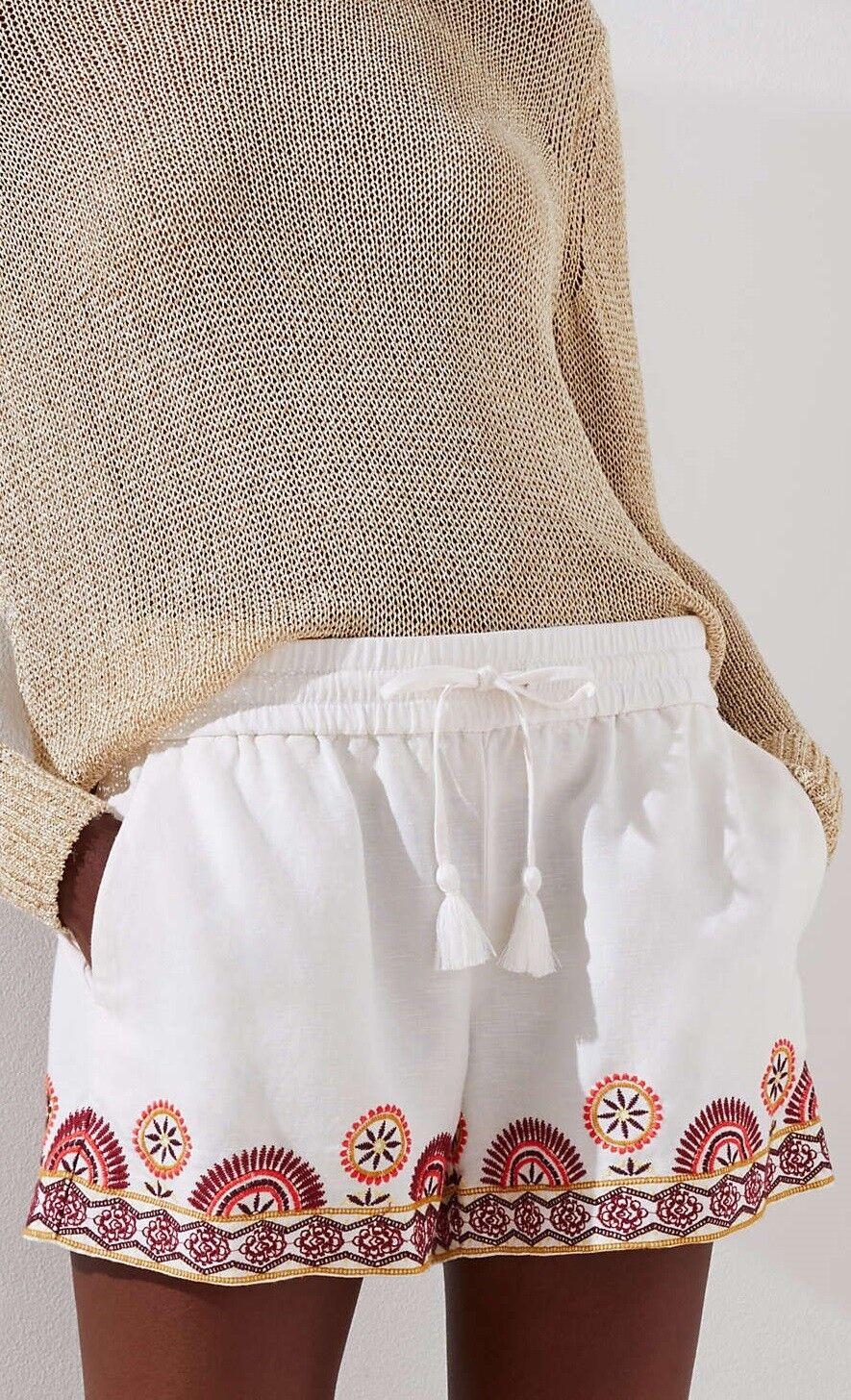 Ann Taylor LOFT Sunset Floral Drawstring Shorts Size Medium NWT Whisper White