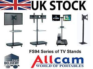 FS94-Series-LED-LCD-TV-Trolley-Floor-Stand-w-Mounting-Bracket-amp-Glass-Shelf