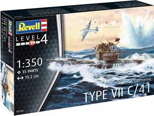 REVELL 05154 1:530 SCALE GERMAN SUBMARINE TYPE VII C//41 MODEL KIT
