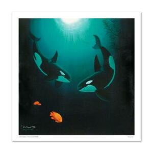 Wyland-034-In-the-Company-of-Orcas-034-Signed-Canvas-Limited-Edition-Art-COA