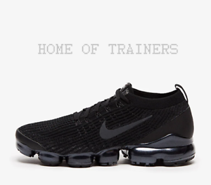 cb38e7b0962b1 Nike Air Vapormax Flyknit 3 Triple Black Men s Trainers All Sizes ...