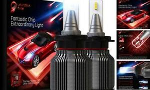BEAMTECH H7 LED Headlight Bulb,Fanless CSP Y19 Chips 8000 Lumens 6500K Xenon White Extremely Bright Conversion Kit of 2