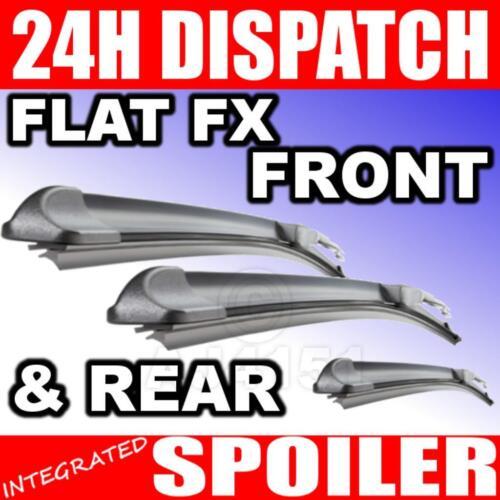 Front /& Rear Aero FLAT FX Wipers HONDA Shuttle 95-05