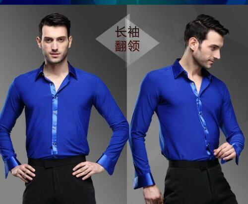 Men/'s Dancewear Ballroom Latin Dance Shirt Tango Samba Salsa Costume shirt