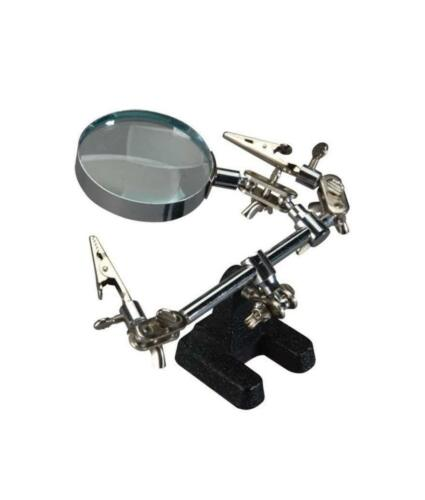 M01559 MOREZMORE Cal Hawk Helping Hand Third Hand 2x Magnifier Soldering Stand