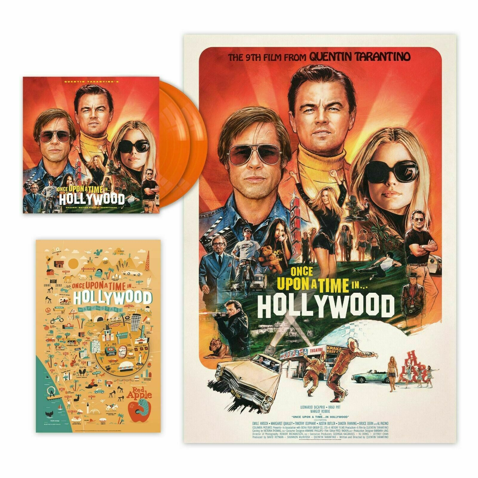 Once Upon A Time In Hollywood Soundtrack 180g Orange Coloured Vinyl 2 x LP