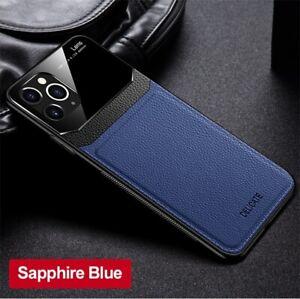 Leather Plexiglass Case for iPhone 11 Pro MAX 2019 11pro XR XS X 7 8 Plus 6 6s 7