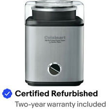 Cuisinart Pure-Indulgence 2-Quart Ice-Cream Maker, Brushed Chrome - CIM-60PC