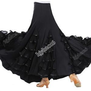 Flamenco-Dance-Costume-Long-Skirt-Ballroom-Tango-Waltz-Party-Dress-Performance