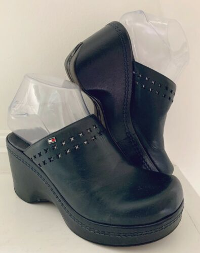 Vintage TOMMY HILFIGER Women Leather Shoes 5.5/6 … - image 1