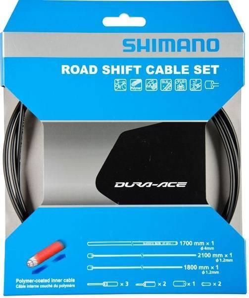 SHIMANO kit cavi e guaine cambio strada dura ace anteriore / posteriore nero Y63