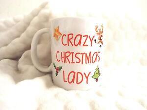 Verruckte Weihnachten Damen Geburtstag Lustig 313ml Keramik Tasse