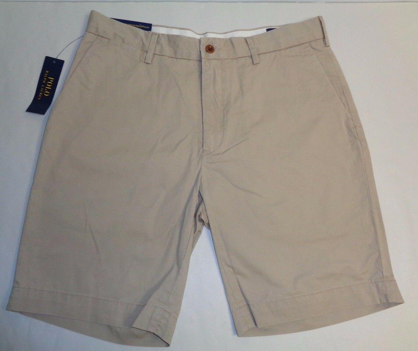 Polo Ralph Lauren Size 33 33W CLASSIC FIT 9  Boating Khaki Shorts New Mens