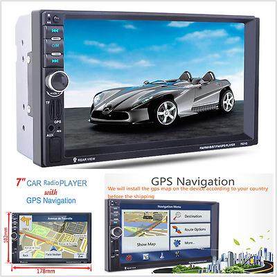 "7"" 2DIN HD 12V Car GPS Navigation Car Bluetooth Stereo MP5 Player FM Radio 7021G"
